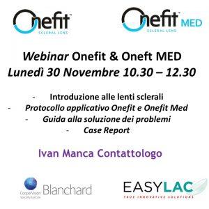 Webinar Onefit & OnefitMED - 30 NOVEMBRE 2020 ORE 10:30